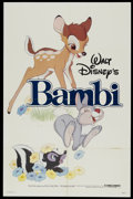 "Movie Posters:Animated, Bambi (Buena Vista, R-1982). One Sheet (27"" X 41""). Animated...."