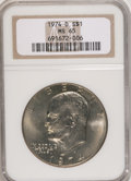 Eisenhower Dollars: , 1974-D $1 MS65 NGC. NGC Census: (989/243). PCGS Population (1060/364). Mintage: 45,517,000. Numismedia Wsl. Price for NGC/P...