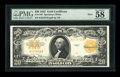 Large Size:Gold Certificates, Fr. 1187 $20 1922 Mule Gold Certificate PMG Choice About Unc 58EPQ....