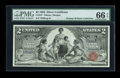 Large Size:Silver Certificates, Fr. 247 $2 1896 Silver Certificate PMG Gem Uncirculated 66 EPQ....