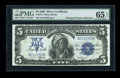 Large Size:Silver Certificates, Fr. 279 $5 1899 Silver Certificate PMG Gem Uncirculated 65 EPQ....