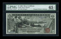 Large Size:Silver Certificates, Fr. 225 $1 1896 Silver Certificate PMG Gem Uncirculated 65 EPQ....