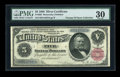 Large Size:Silver Certificates, Fr. 265 $5 1886 Silver Certificate PMG Very Fine 30....