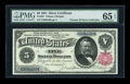 Large Size:Silver Certificates, Fr. 267 $5 1891 Silver Certificate PMG Gem Uncirculated 65 EPQ....