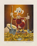 "Original Comic Art:Miscellaneous, Carl Barks - Uncle Scrooge ""Pick and Shovel Laborer"" LimitedEdition Miniature Lithograph Print #14/595 (Another Rainbow,1993... (Total: 2 Items)"