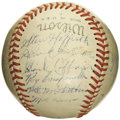 Autographs:Baseballs, 1948 St. Paul Saints Team Signed Baseball with Roy Campanella. Though the Hall of Fame catcher debuted with the Brooklyn Do...