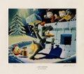 """Original Comic Art:Miscellaneous, Carl Barks - """"A Hot Defense"""" Miniature Lithograph Limited EditionPrint #14/595 (Another Rainbow, 1990).... (Total: 2 Items)"""