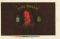 Antique Stone Lithography:Cigar Label Art, King Roger Cigar Inner Label Pasted over Proof,...