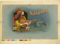 Antique Stone Lithography:Cigar Label Art, Nandora Large Size Cigar Inner Label Proof,...
