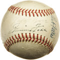 Autographs:Baseballs, 1937 American League All-Star Reunion Team Signed Baseball.Twenty-five years after the American League squad topped its ol...