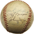 Autographs:Baseballs, 1949 New York Yankees Team Signed Baseball. Though Casey Stengel's appointment to the Yankee managerial position was met wi...