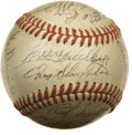 "Autographs:Baseballs, 1946 St. Louis Cardinals Team Signed Baseball. Seems like Harry""The Hat"" Walker should have given Enos Slaughter sole poss..."