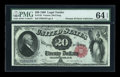 Large Size:Legal Tender Notes, Fr. 145 $20 1880 Legal Tender PMG Choice Uncirculated 64 EPQ....