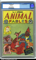 Golden Age (1938-1955):Funny Animal, Animal Fables #3 (EC, 1947). CGC VG 4.0 Cream to off-white pages.Overstreet 2001 GD 2.0 value = $21; FN 6.0 value = $64....
