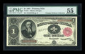 Large Size:Treasury Notes, Fr. 351 $1 1891 Treasury Note PMG About Uncirculated 55....