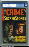 Golden Age (1938-1955):Crime, Crime SuspenStories #27 Gaines File pedigree 6/12 (EC, 1955). CGC NM- 9.2 Off-white to white pages. Overstreet 2001 NM 9.4 v...