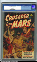 Golden Age (1938-1955):Science Fiction, Crusader from Mars #2 Cosmic Aeroplane pedigree (Ziff-Davis, 1952).CGC NM- 9.2 White pages. Overstreet 2001 NM 9.4 value = ...