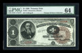 Large Size:Treasury Notes, Fr. 347 $1 1890 Treasury Note PMG Choice Uncirculated 64....