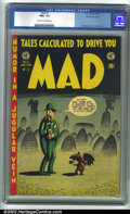 Golden Age (1938-1955):Humor, Mad #3 Gaines File pedigree 8/12 (EC, 1953). CGC NM+ 9.6 Off-white to white pages. Overstreet 2001 NM 9.4 value = $900. ...