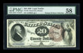 Large Size:Legal Tender Notes, Fr. 138 $20 1880 Legal Tender PMG Choice About Unc 58....