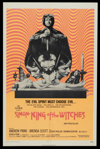 """Simon, King of the Witches (Fanfare, 1971). One Sheet (27"""" X 41""""). Horror"""