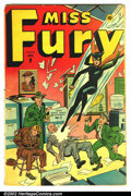 Golden Age (1938-1955):Superhero, Miss Fury #8 (Medallion, 1945). Condition: GD/VG. Tape repairs on covers....