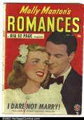 Golden Age (1938-1955):Romance, Molly Manton's Romances #1 (Marvel, 1949). Condition: GD/VG....