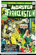 Bronze Age (1970-1979):Horror, The Monster of Frankenstein #1 (Marvel, 1972). Condition: VF....