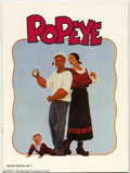 Movie Posters:Miscellaneous, Movie Program: Popeye (1980). Photos and information on the film. Condition: VF....