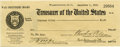 Autographs:U.S. Presidents, Woodrow Wilson Check Signed as President....