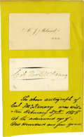 Military & Patriotic:Indian Wars, Col. Thomas L. McKenney Signature. McKenney served asSuperintendent of Indian Affairs under four consecutive Presidents:Ma...