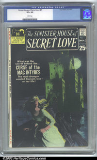 Sinister House of Secret Love #1 (DC, 1971). CGC VF+ 8.5 White pages. Overstreet 2001 FN 6.0 value = $40; NM 9.4 value =...