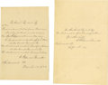 Entertainment Collectibles:Music, Sanford F. Bennett Autograph Quotations Signed - Sweet Bye andBye. Author, poet, and Civil War officer, Sanford...