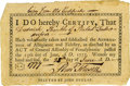 Military & Patriotic:Revolutionary War, Revolutionary War Loyalty Oath Printed by John Dunlap. ...
