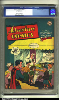 Adventure Comics #105 (DC, 1946) CGC VF/NM 9.0 Cream to off-white pages. Overstreet 2002 NM 9.4 value = $800