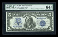 Large Size:Silver Certificates, Fr. 277 $5 1899 Silver Certificate PMG Choice Uncirculated 64 EPQ....