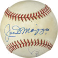 Autographs:Baseballs, 1980's Joe DiMaggio & Mickey Mantle Signed Baseball. Despitedozens of joint appearances at New York Yankees alumni events ...