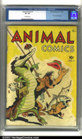 Golden Age (1938-1955):Funny Animal, Animal Comics #1 (Dell, 1942) CGC VG 4.0 Off-white pages. Firstappearance of Pogo. Walt Kelly art. Overstreet 2002 GD 2.0 v...