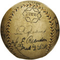 Autographs:Baseballs, 1931 Tour of Japan Team Signed Baseball with Gehrig. Far scarcerthan team balls from the more widely recognized 1934 Tour ...