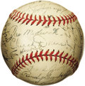 Autographs:Baseballs, 1947 New York Yankees Team Signed Baseball with Medwick. For theYankee team ball collector who has everything, we present ...