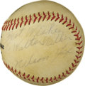 "Autographs:Baseballs, 1960's Nellie Fox Single Signed Baseball. ""Nellie was the toughestout for me,"" Hall of Fame pitcher Whitey Ford was once q..."