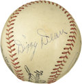 Autographs:Baseballs, 1934 Dizzy & Daffy Dean Signed Baseball. Ford Frick'sascendance to the National League presidency in 1935 assures thatthi...