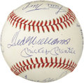Autographs:Baseballs, 500 Home Run Club Signed Baseball Signed by Eleven. With today's top sluggers laboring under a cloud of pharmaceutical suspi...