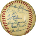 Autographs:Baseballs, 1956 Brooklyn Dodgers Team Signed Baseball. The club that deliveredthe last National League flag to the borough of Brookly...