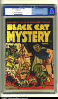 Golden Age (1938-1955):Horror, Black Cat Mystery #32 (Harvey, 1951) CGC VF/NM 9.0 Light tan tooff-white pages. Overstreet 2002 NM 9.4 value = $200....