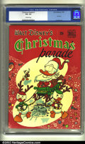 Golden Age (1938-1955):Funny Animal, Christmas Parade #1 (Dell, 1949) CGC VG+ 4.5 Off-white pages.Overstreet 2002 GD 2.0 value = $48; FN 6.0 value = $144....