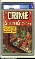 Golden Age (1938-1955):Crime, Crime SuspenStories #9 Gaines File pedigree (EC, 1952) CGC NM+ 9.6 Off-white to white pages. Overstreet 2002 NM 9.4 value = ...