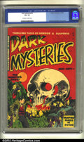 Golden Age (1938-1955):Horror, Dark Mysteries #2 (Master Publications, 1951) CGC FN- 5.5 Off-whiteto white pages. Overstreet 2002 FN 6.0 value = $219....