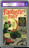 Silver Age (1956-1969):Superhero, Fantastic Four #1 (Marvel, 1961) CGC Apparent VF 8.0 Slight (A)Cream to off-white pages. Restoration includes: small amount...