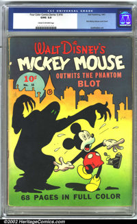 Four Color Comics (Series 1) #16 (Dell, 1941) CGC G/VG 3.0 Cream to off-white pages. Features Mickey Mouse. 68 pages. Ph...